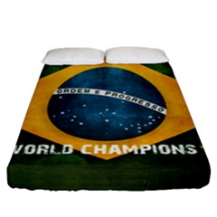 Football World Cup Fitted Sheet (queen Size) by Valentinaart