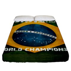 Football World Cup Fitted Sheet (king Size) by Valentinaart