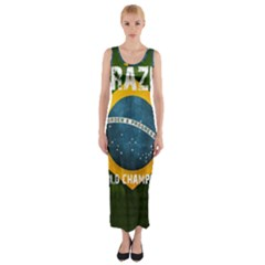 Football World Cup Fitted Maxi Dress