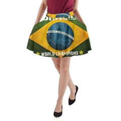 Football World Cup A Line Pocket Skirt by Valentinaart