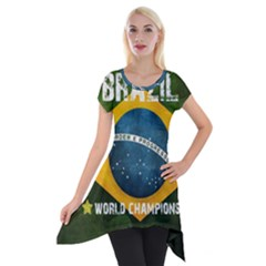 Football World Cup Short Sleeve Side Drop Tunic by Valentinaart
