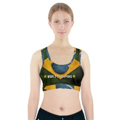 Football World Cup Sports Bra With Pocket