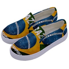 Football World Cup Kids  Canvas Slip Ons by Valentinaart