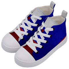 Football World Cup Kid s Mid Top Canvas Sneakers by Valentinaart