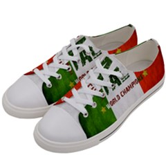 Football World Cup Women s Low Top Canvas Sneakers by Valentinaart