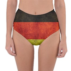 Football World Cup Reversible High Waist Bikini Bottoms