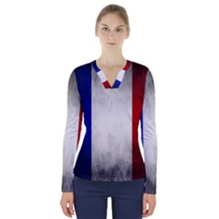 Football World Cup V Neck Long Sleeve Top