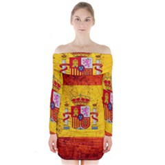 Football World Cup Long Sleeve Off Shoulder Dress