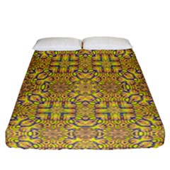 Forest Rainbow  Wood And Festive Soul Fitted Sheet (california King Size) by pepitasart