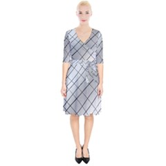 Silver Scratch Wrap Up Cocktail Dress