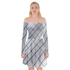 Silver Scratch Off Shoulder Skater Dress