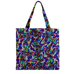 Pattern-10 Zipper Grocery Tote Bag