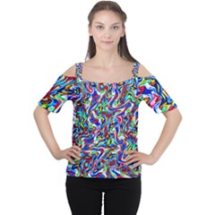Pattern 10 Cutout Shoulder Tee