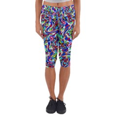 Pattern-10 Capri Yoga Leggings