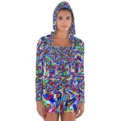 Pattern 10 Long Sleeve Hooded T Shirt