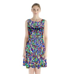 Pattern 10 Sleeveless Waist Tie Chiffon Dress