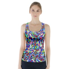 Pattern-10 Racer Back Sports Top