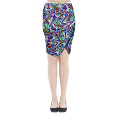 Pattern-10 Midi Wrap Pencil Skirt