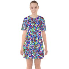 Pattern-10 Sixties Short Sleeve Mini Dress