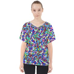 Pattern-10 V-neck Dolman Drape Top