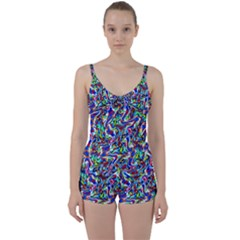 Pattern-10 Tie Front Two Piece Tankini