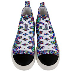 Pattern-10 Men s Mid-top Canvas Sneakers
