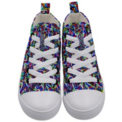 Pattern-10 Kid s Mid-top Canvas Sneakers