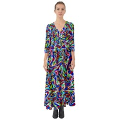 Pattern-10 Button Up Boho Maxi Dress