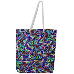 Pattern 10 Full Print Rope Handle Tote (large)