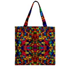 P 786 Zipper Grocery Tote Bag