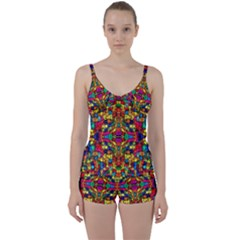 P 786 Tie Front Two Piece Tankini
