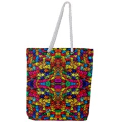 P 786 Full Print Rope Handle Tote (large)