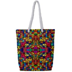 P 786 Full Print Rope Handle Tote (small)