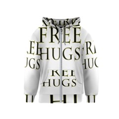 Freehugs Kids  Zipper Hoodie by cypryanus
