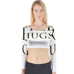 Freehugs Long Sleeve Crop Top by cypryanus