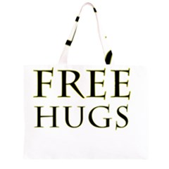 Freehugs Zipper Large Tote Bag by cypryanus