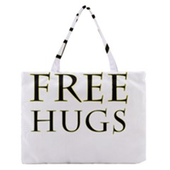 Freehugs Zipper Medium Tote Bag by cypryanus