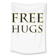 Freehugs Large Tapestry by cypryanus