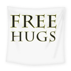 Freehugs Square Tapestry (large) by cypryanus
