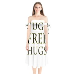 Freehugs Shoulder Tie Bardot Midi Dress