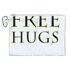 Freehugs Canvas Cosmetic Bag (xl) by cypryanus