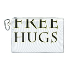 Freehugs Canvas Cosmetic Bag (large)