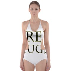 Freehugs Cut Out One Piece Swimsuit
