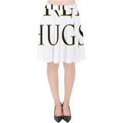 Freehugs Velvet High Waist Skirt