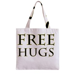 Freehugs Zipper Grocery Tote Bag by cypryanus