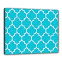 TILE1 WHITE MARBLE & TURQUOISE COLORED PENCIL Canvas 20  x 16  View1