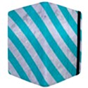 STRIPES3 WHITE MARBLE & TURQUOISE COLORED PENCIL Apple iPad 2 Flip Case View4