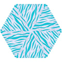 Skin3 White Marble & Turquoise Colored Pencil (r) Mini Folding Umbrellas by trendistuff