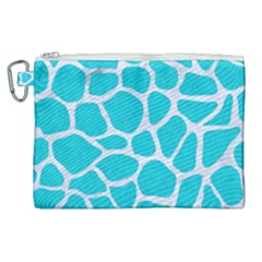 Skin1 White Marble & Turquoise Colored Pencil (r) Canvas Cosmetic Bag (xl)