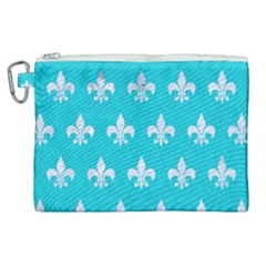 Royal1 White Marble & Turquoise Colored Pencil (r) Canvas Cosmetic Bag (xl) by trendistuff